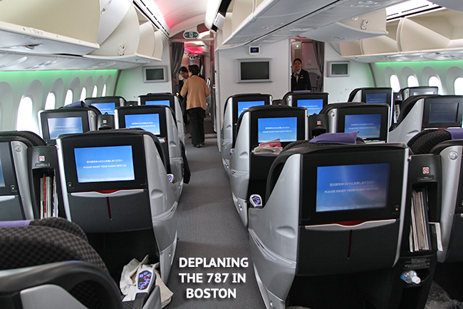 Tokyo Boston Via Jal 787 In Y Class Pics Vid Airliners Net